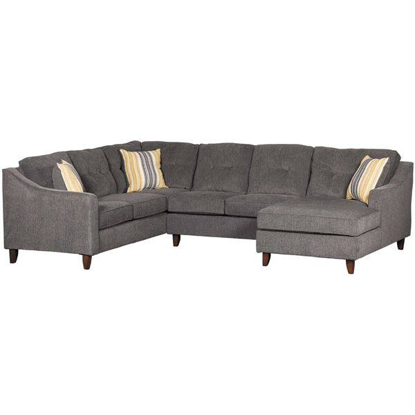 Sydney Gray 3 Piece Sectional | Washington Furniture | AFW.c