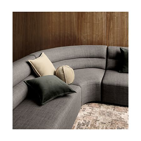Sydney 3-piece Curved Sectional Sofa + Reviews | Crate and Barrel .