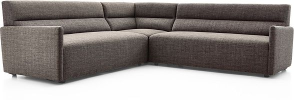 Sydney 3-piece Curved Sectional | Corner sectional sofa, Corner .
