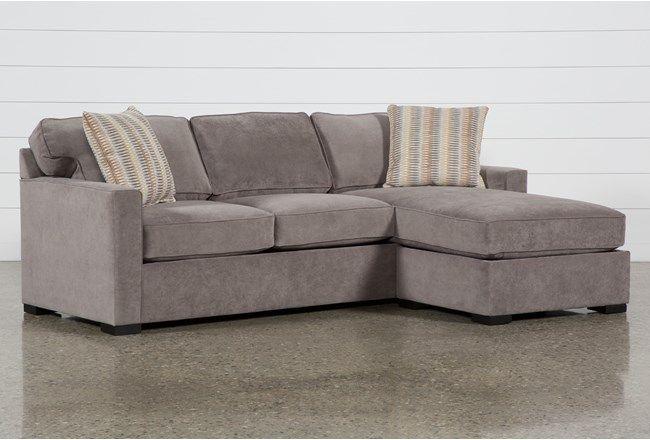 Taren II Reversible Sofa/Chaise Sleeper WithStorage Ottoman - Grey .