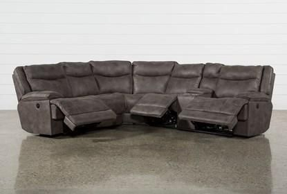 Taron 3 Piece Power Reclining Sectional With Right Facing Console .