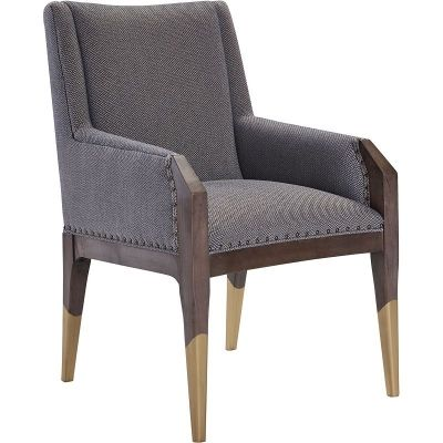 Hickory Chair 8506-11 Hable Tate Arm Chair with Gilded Legs .