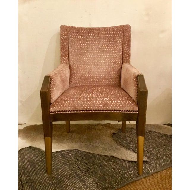 Hickory Chair Co. Modern Blush Cut Velvet Tate Arm Chair | Chairi