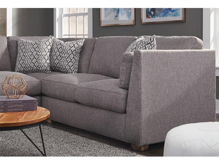 Franklin Living Room Right Arm Sofa 82150-Greystone - Tate .
