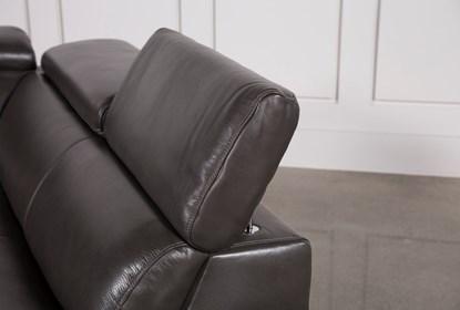 Tatum Dark Grey 2 Piece Sectional With Right Arm Facing Armless .