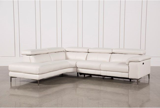 Tess 2 Piece Power Reclining Sectional W/Laf Chaise - 360 .