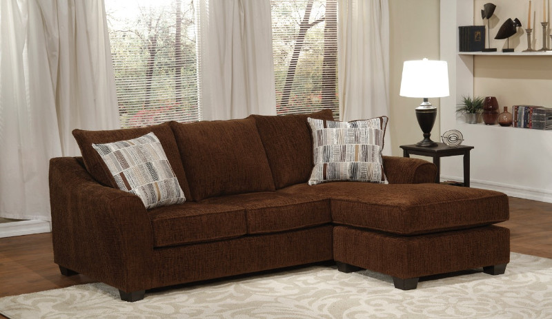 2 pc Chofa brick chenille fabric upholstered queen sleeper .