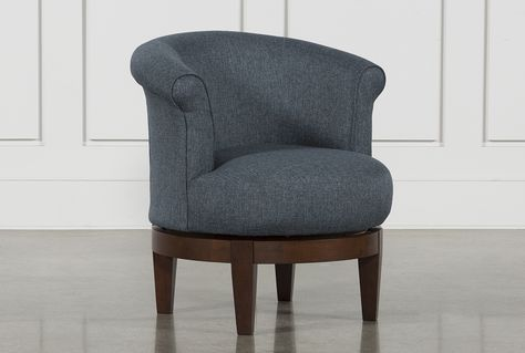 Theo II Accent Swivel Chair - Blue - $395 | Swivel chair .