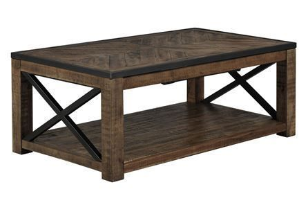 Tillman Rectangle Cocktail Table W/Casters (With images) | Coffee .