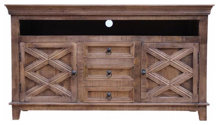 Mason 3 Drawer 2 Door Media Sideboard 36x64x16 - Rustic - Buffets .