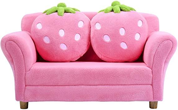 Amazon.com: Costzon Kids Sofa, with 2 Cute Strawberry Pillows .