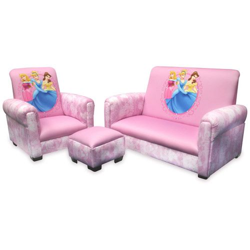 Disney - Princess Hearts and Crowns Toddler Sofa, Chair and .