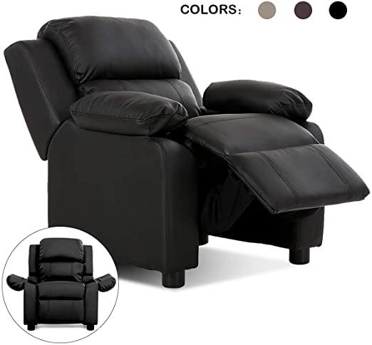 Amazon.com: Costzon Kids Sofa Recliner, Children PU Leather .
