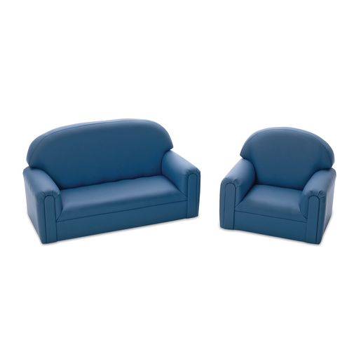 Enviro-Child Toddler Sofa and Chair Set - Blue Social Seating .