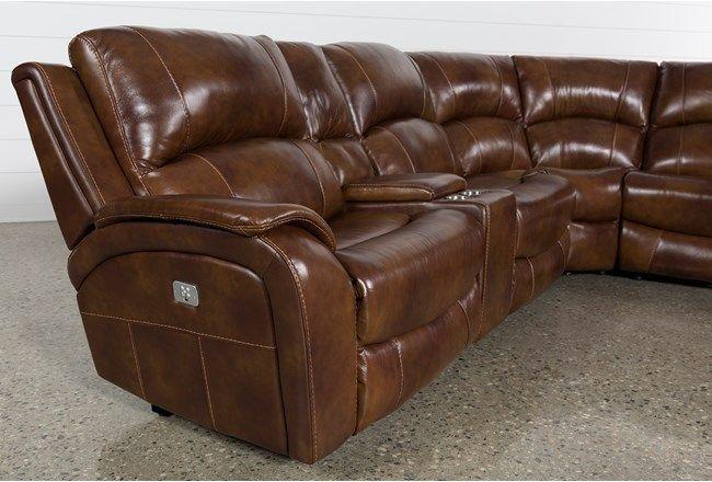 6 Piece Power Reclining Sectional Sofa with Power Headrest & USB .