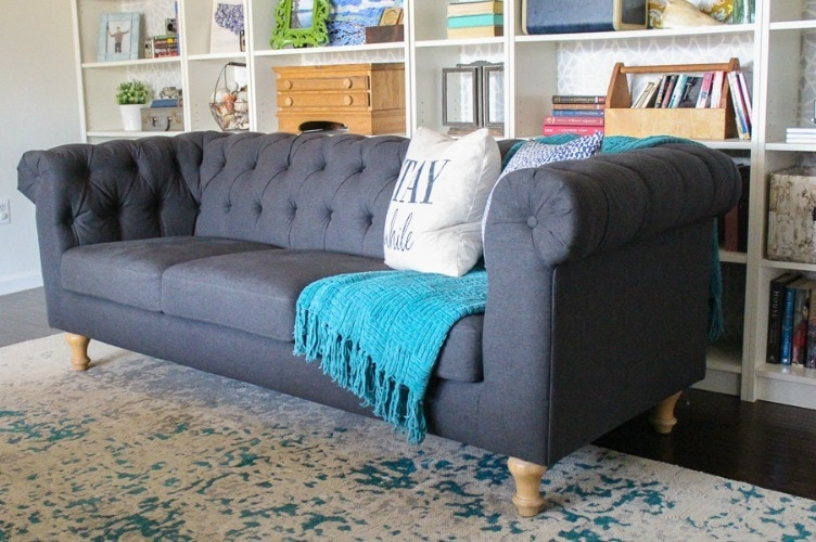 The perfect inexpensive gray tufted sofa - Lovely Et