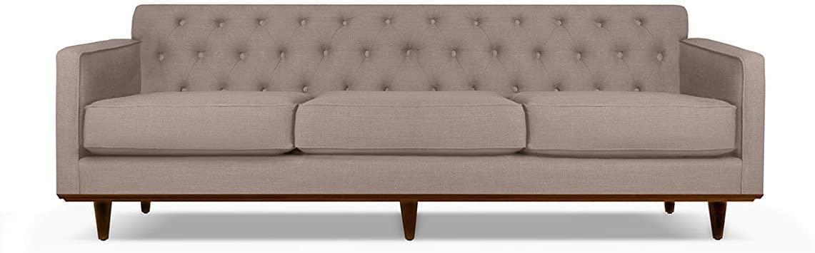 Amazon.com: South Cone Home KENTUFSOF90/BROWN Kent Tufted Linen .