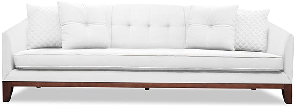 Amazon.com: South Cone Home LOITUFSOF84/WHITE Lois Tufted Linen .