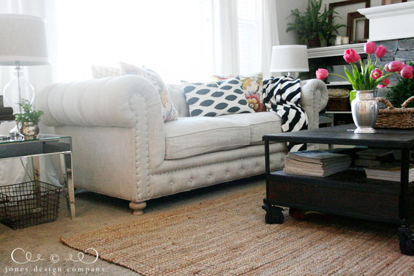tufting and nailheads and linen, oh my | Jones Design Compa