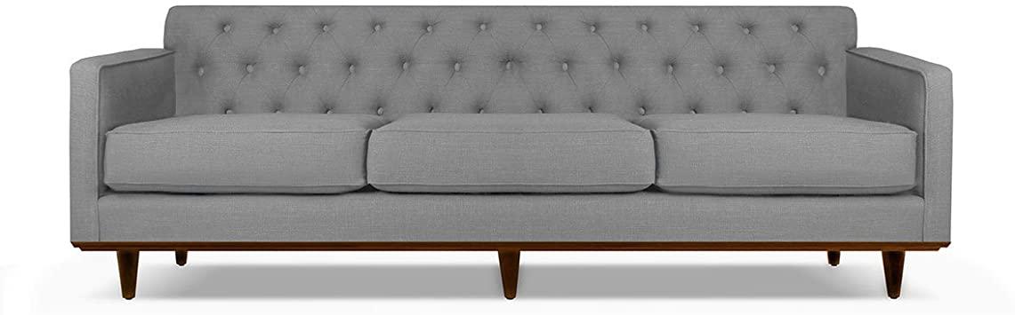 Amazon.com: South Cone Home KENTUFSOF72/GREY Kent Tufted Linen .