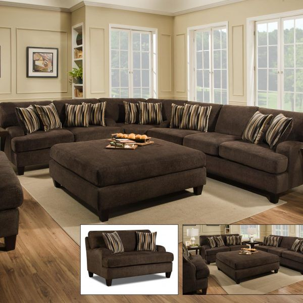 Maverick Espresso Sectional Furniture & More Superstore Tulsa, OK .