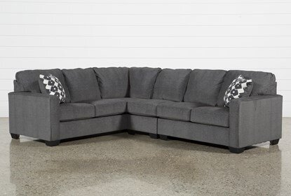 Turdur 3 Piece Sectional With Right Arm Facing Loveseat | Living .