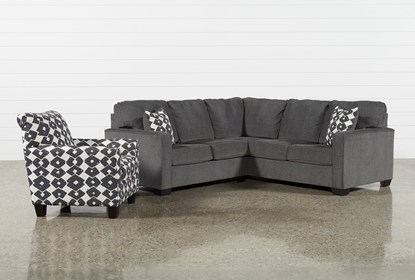 Turdur 2 Piece Left Arm Facing Sectional With Accent Chair .