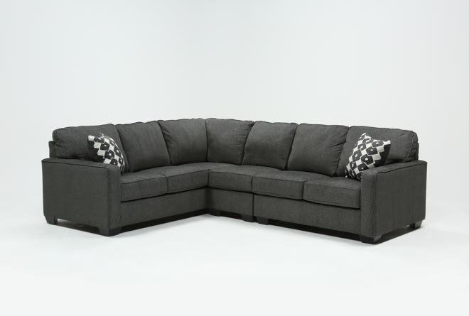 Ashley Turdur 3 Piece Sectional Sofa with Right Arm Facing .