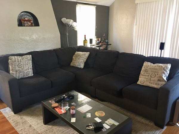 Living Spaces Turdur 3 Piece Sectional W/Raf Loveseat for Sale in .