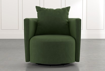 Twirl Green Swivel Accent Chair | Living Spac