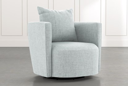 Twirl Light Blue Swivel Accent Chair | Living Spac