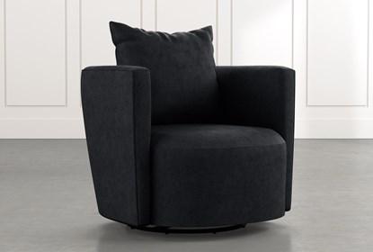 Twirl Black Swivel Accent Chair | Living Spac