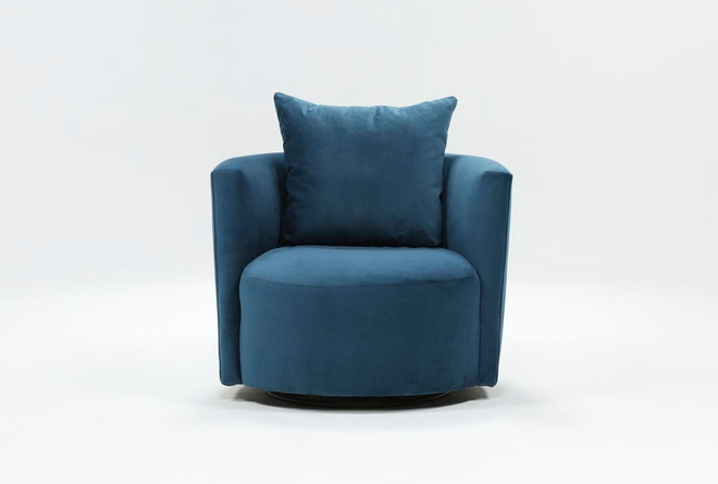 Twirl Swivel Accent Chair - Blue - $450 in 2020 | Accent chairs .