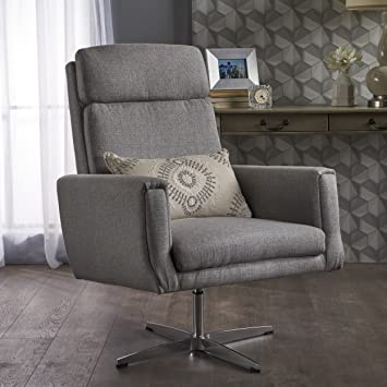 Amazon.com: Christopher Knight Home Horatia Modern Fabric Swivel .