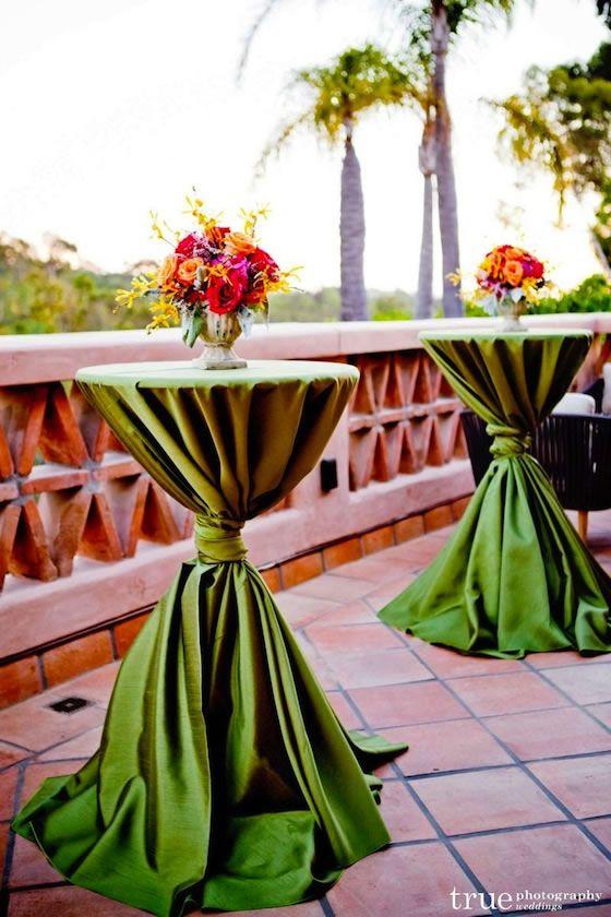 San Diego Garden Wedding at Rancho Valencia Resort | Cocktail hour .