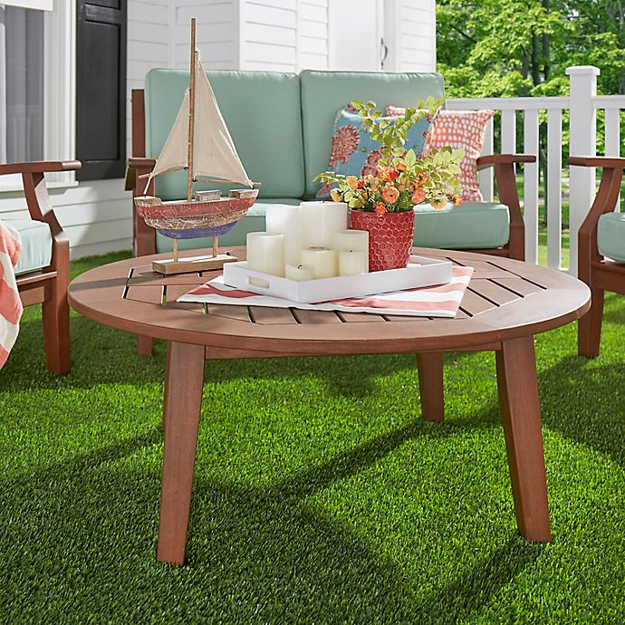 Verona Home Pacific Grove Outdoor Round Cocktail Table | Bed Bath .