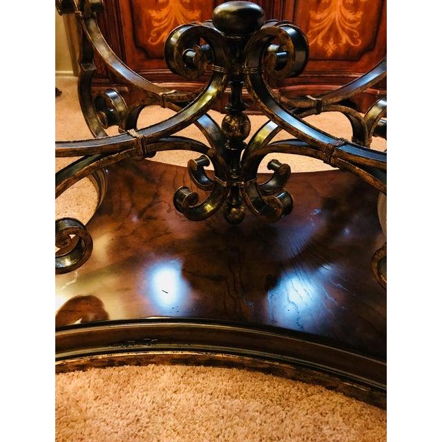 Hollywood Regency Marge Carson Verona Oval Cocktail Table | Chairi