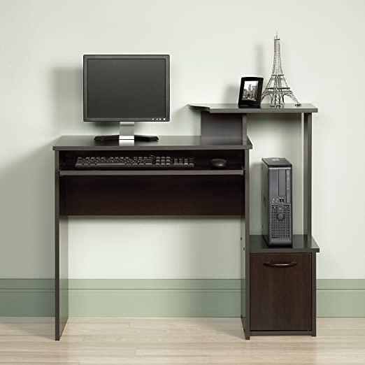 Amazon.com: Small Computer Desk Gaming Vertical PC Tower Shelf .