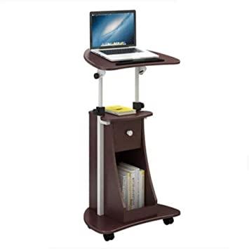 Amazon.com: Side Table Desk End Bedside Vertical Computer Desk .