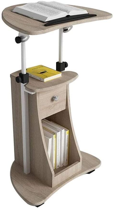 Amazon.com: Tingting Side Table Desk End Bedside Snack Vertical .