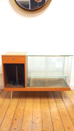 Vintage Sideboard with Glass Case From wRu, 1957 for sale at Pamo
