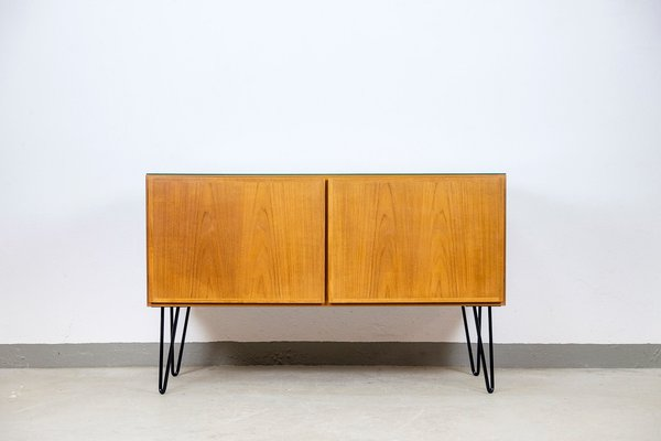 Danish Teak and Glass Sideboard from Omann Jun, 1970s for sale at .