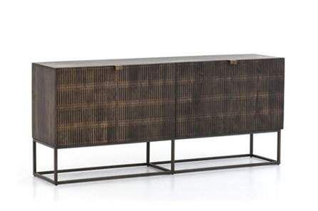 Vintage Brown Textured Sideboard | Brown texture, Sideboard living .