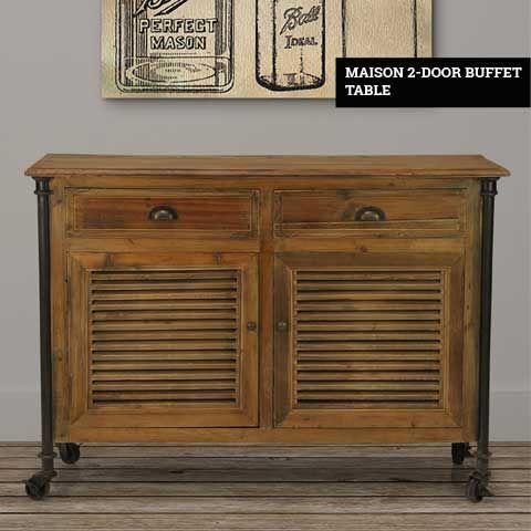 Maison 2-Door Buffet Table | Buffet, Sideboard table, Furniture ca