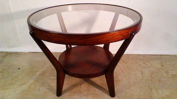 Vintage Wooden Coffee Table by Koželka and Kropáček for Interier .