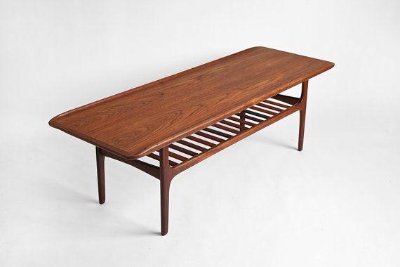 Vintage Teak Surfboard Coffee Table - Mid Century, Modern, Danish .