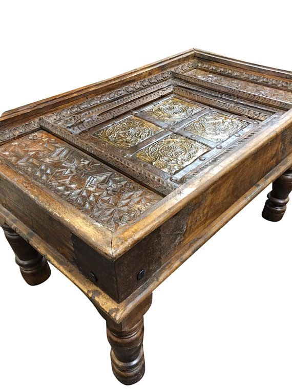 Antique Coffee Table, Vintage Coffee Table, Rustic Coffee Table .
