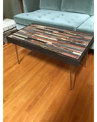 """New Deals on 48""""x24"""" Barn wood Coffee Table with Hairpin Legs ."""