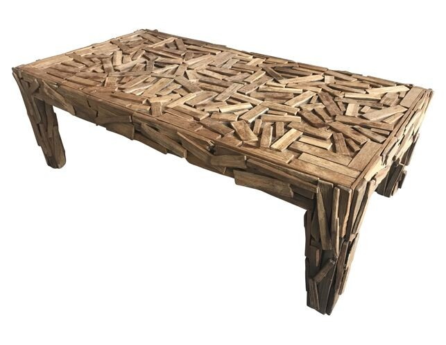 Abstract Vintage Wood Coffee Table • The Local Vau