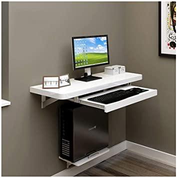 Amazon.com: MDBLYJ Laptop Table Small-Sized Wall-Mounted Computer .